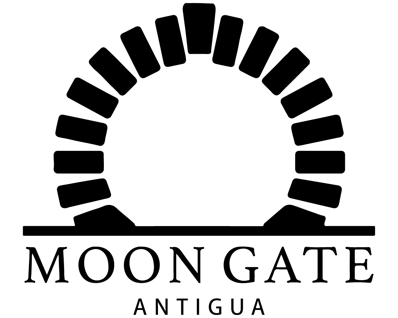 Moon Gate Antigua Logo White
