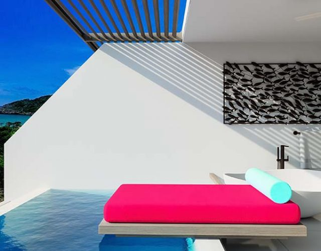 Taking in the amazing views from your private balcony